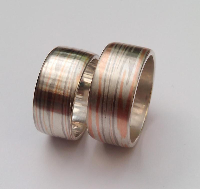 Trouwringen Rosegoud Palladium Zilver